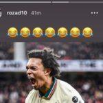 Fernandinho's son Davi Roza uploads Instagram story mocking Manchester United after their 5-0 loss against Liverpool