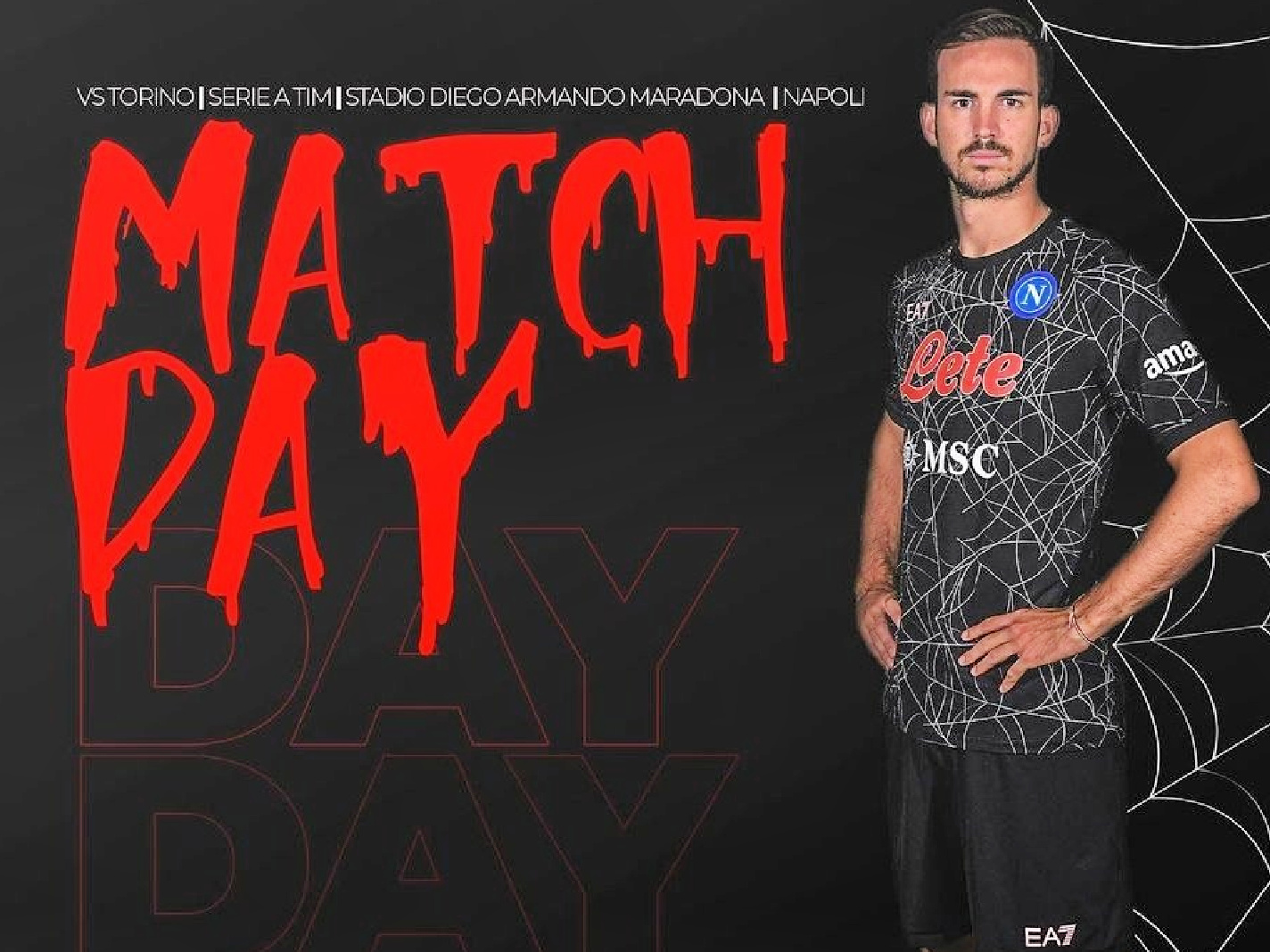 Napoli show off new Halloween kit in their game against Torino