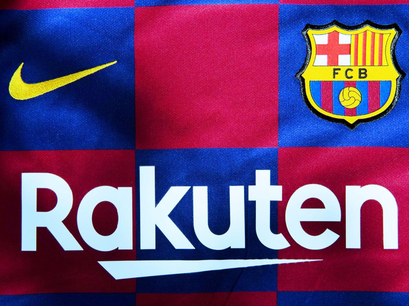 Nike, Barcelona and Rakuten logo